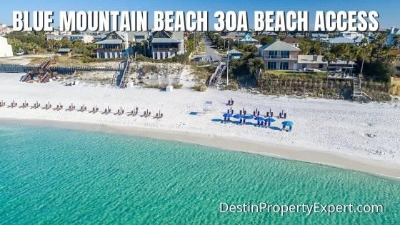 Beach access in Blue Mountain Beach 30a