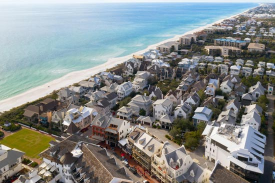 Overview of the Rosemary Beach community all 30a Florida