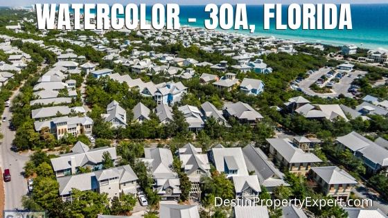 Watercolor homes for sale on 30a Florida