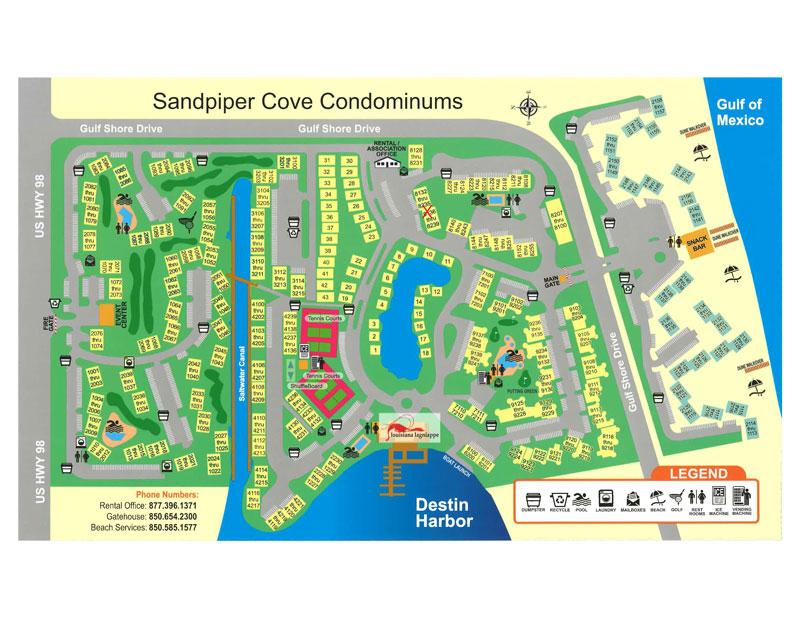 Sandpiper Cove condo map