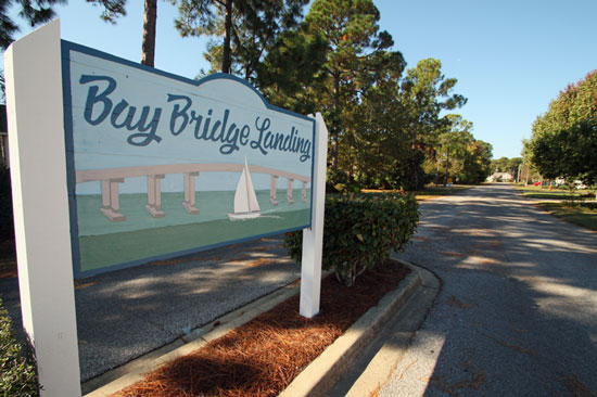Bay Bridge landing subdivision in Miramar Beach, FL