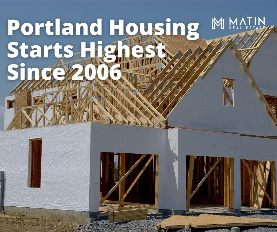 Portland Housing Starts Highest Since 2006
