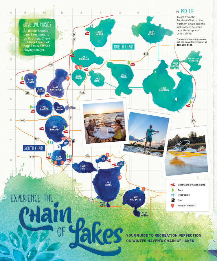 chain of lakes map