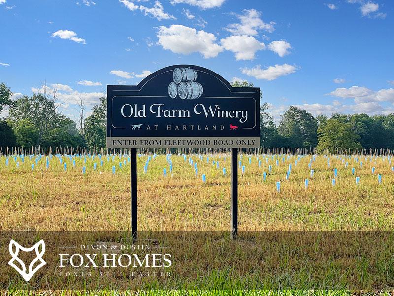 Old Farm Winery near Hartland Realtors
