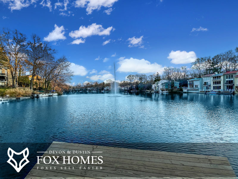 Reston homes for sale lake scenery