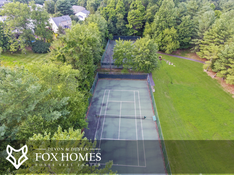 Sequoia Farms Recreation Tennis Courts Outdoor Shared Spaces