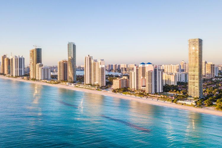 Miami beach waterfront condos