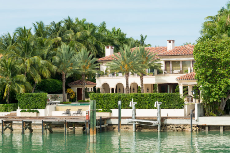 Mediterranean home on Star Island
