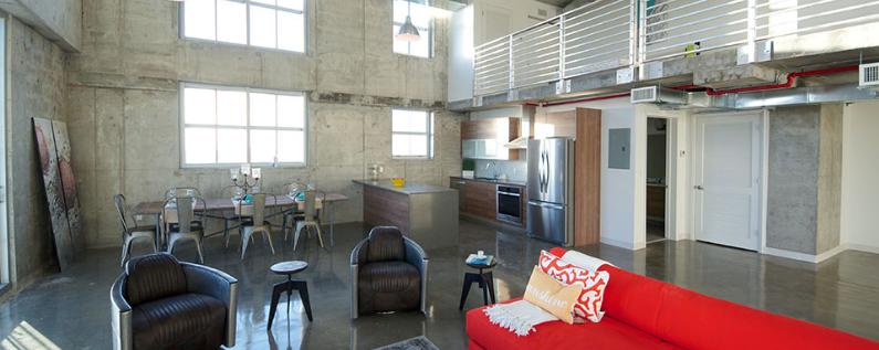 Filling Station Lofts interior
