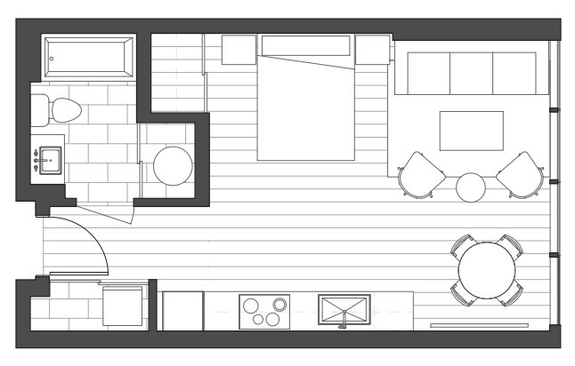 aeo condo studio floorplan