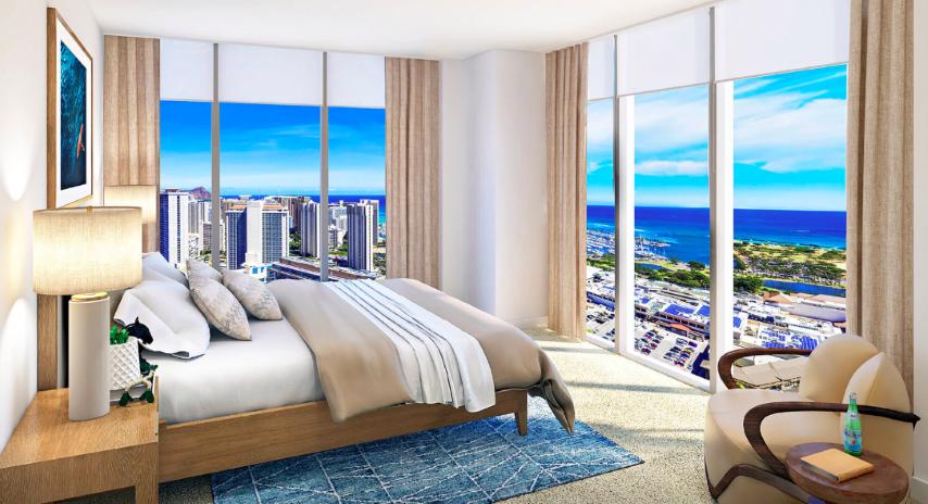 Azure Ala Moana condo bedroom
