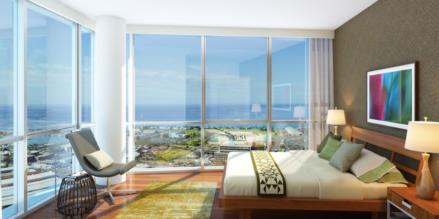 Interior Bedroom View at Keauhou Place Condo
