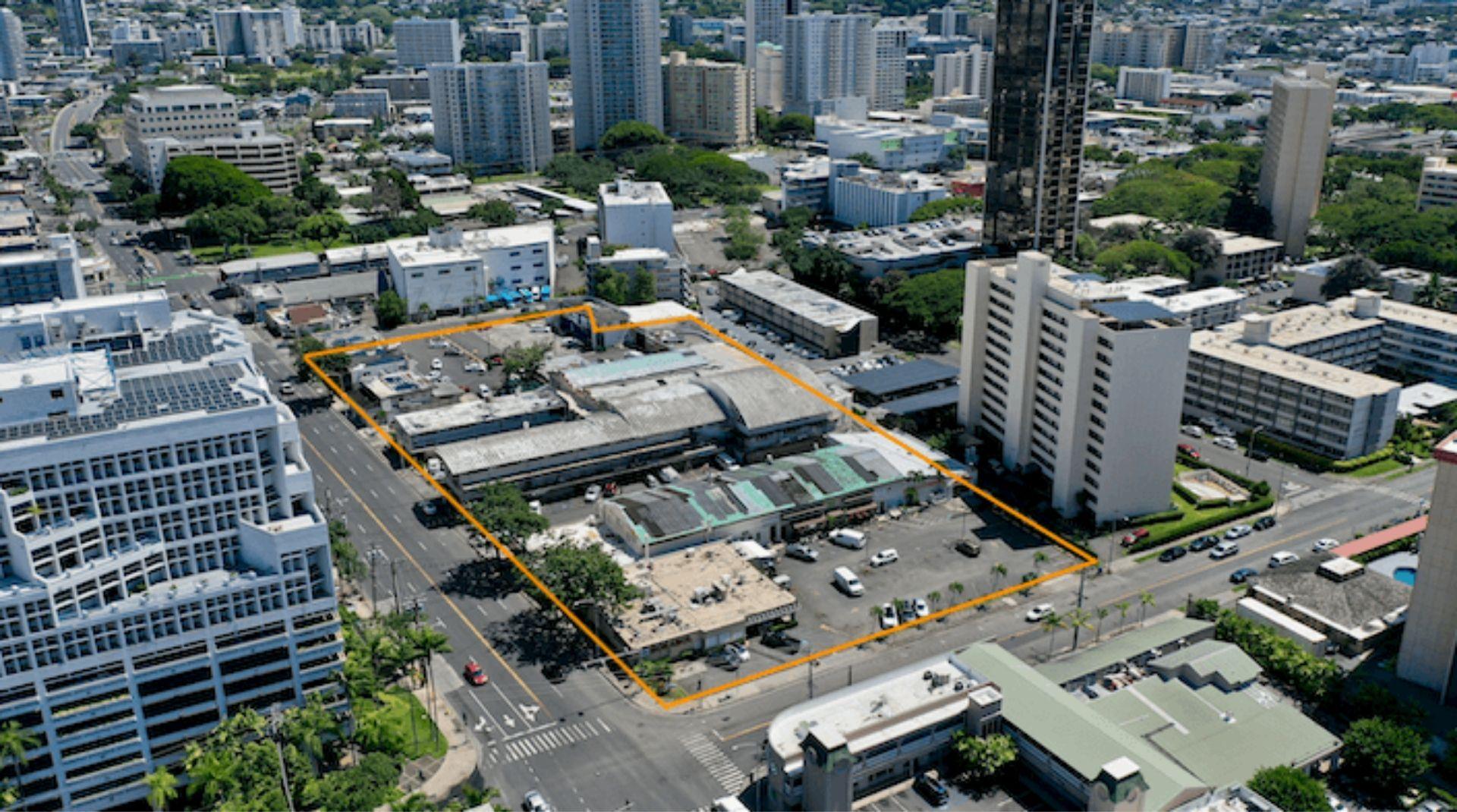 Keeaumoku Towers site plan in Ala Moana, Honolulu, HI