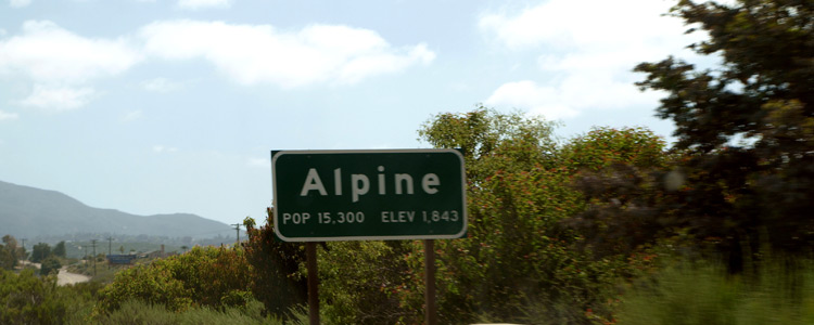 Moving To and Living In Alpine, CA