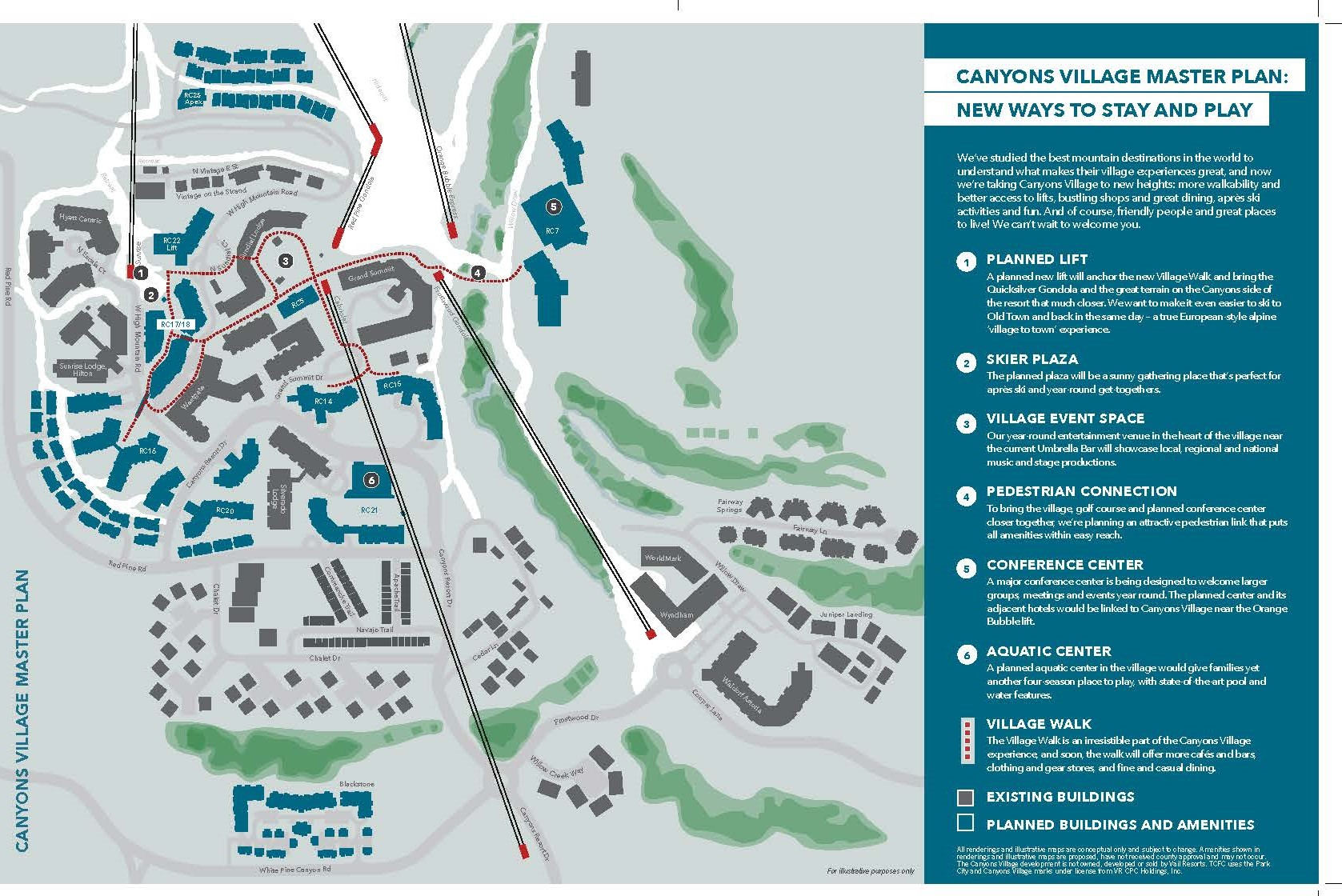 Master Plan For Canyons Village