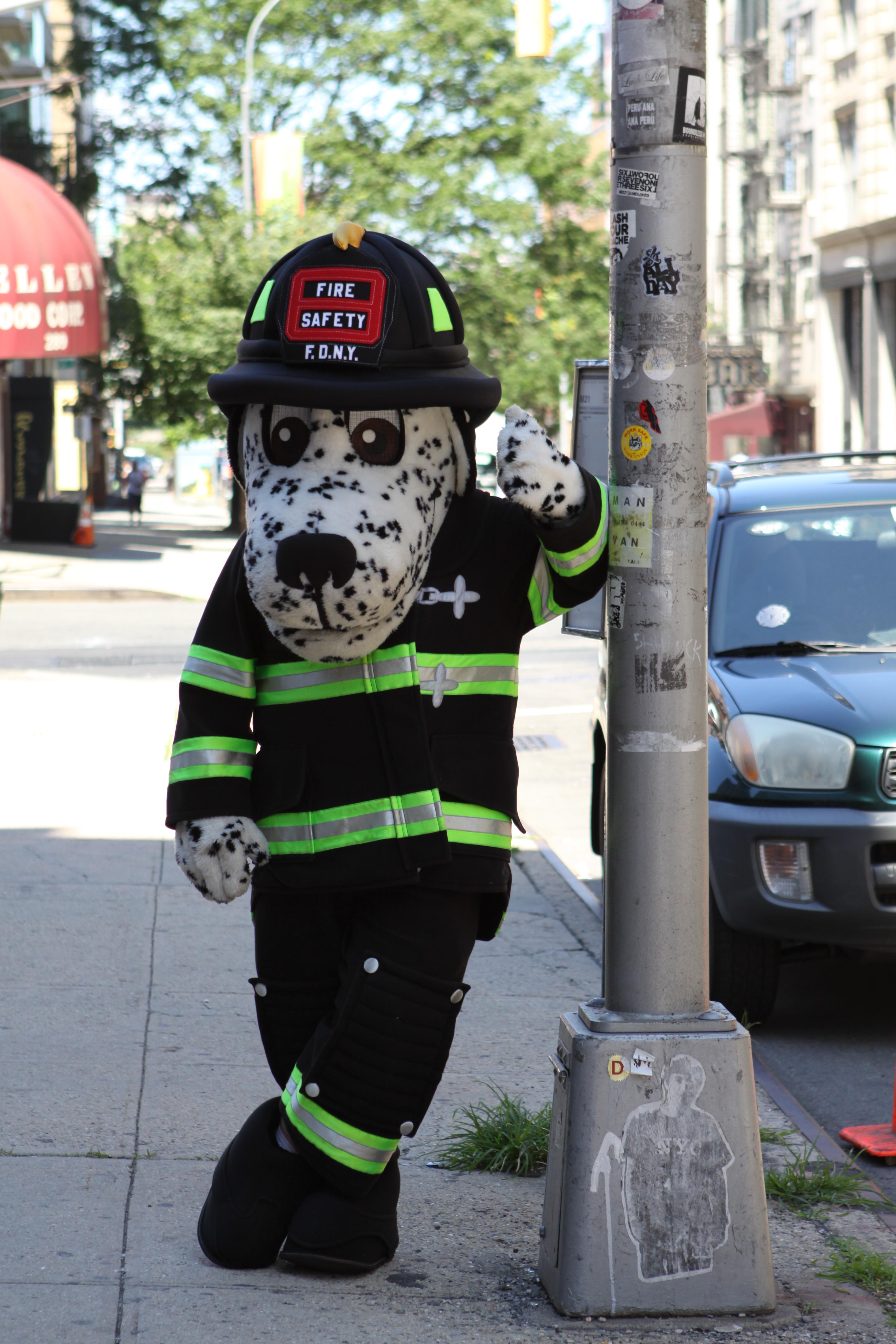 Fire prevention mascot