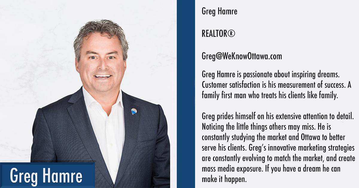 Greg Hamre Ottawa Real Estate Agent