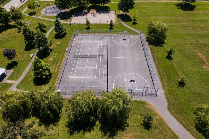Bridgeview Park Tennis & Basketball Courts in Bridgeview, Surrey, British Columbia