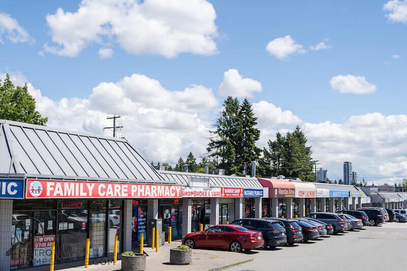 Cedar Hills Strip Mall in Surrey, British Columbia