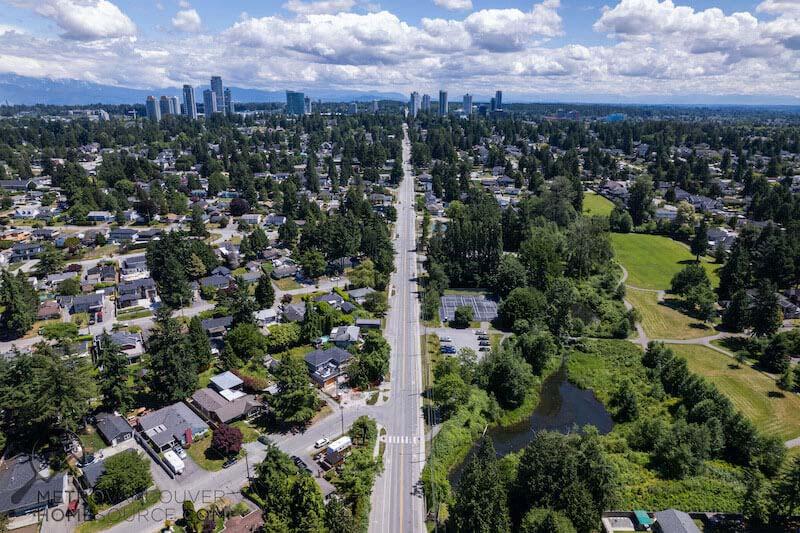 Cedar Hills Main Road in Surrey, British Columbia