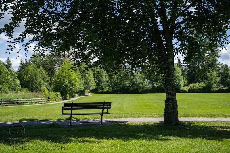 Robson Park Bench in Surrey, British Columbia