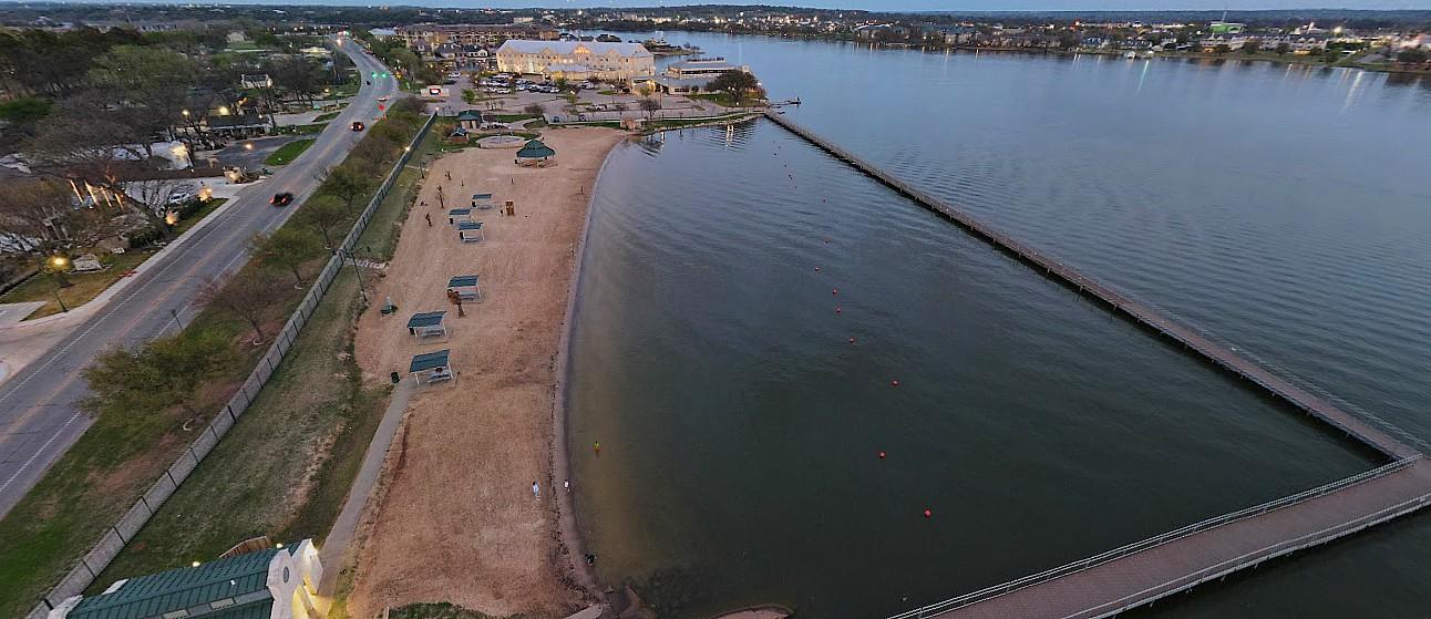 Granbury City Beach is Well Cared For - Granbury Texas