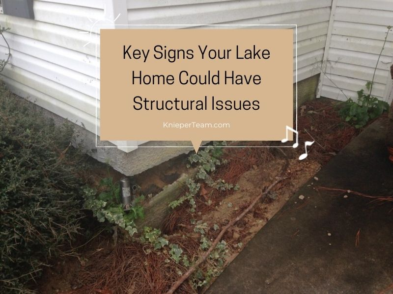 Here are three major indicators to help you know if your lake home is having structural integrity issues.