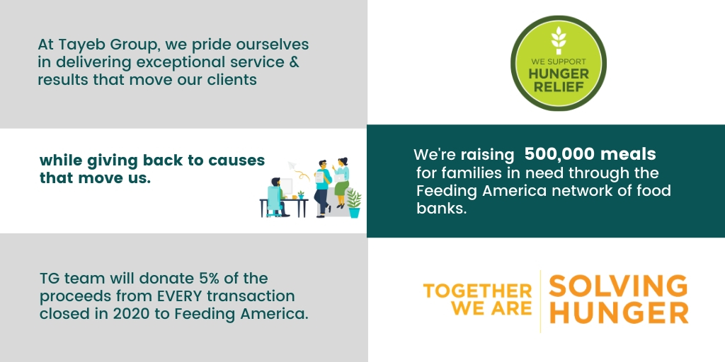 Tayeb Group pledge to Feeding America