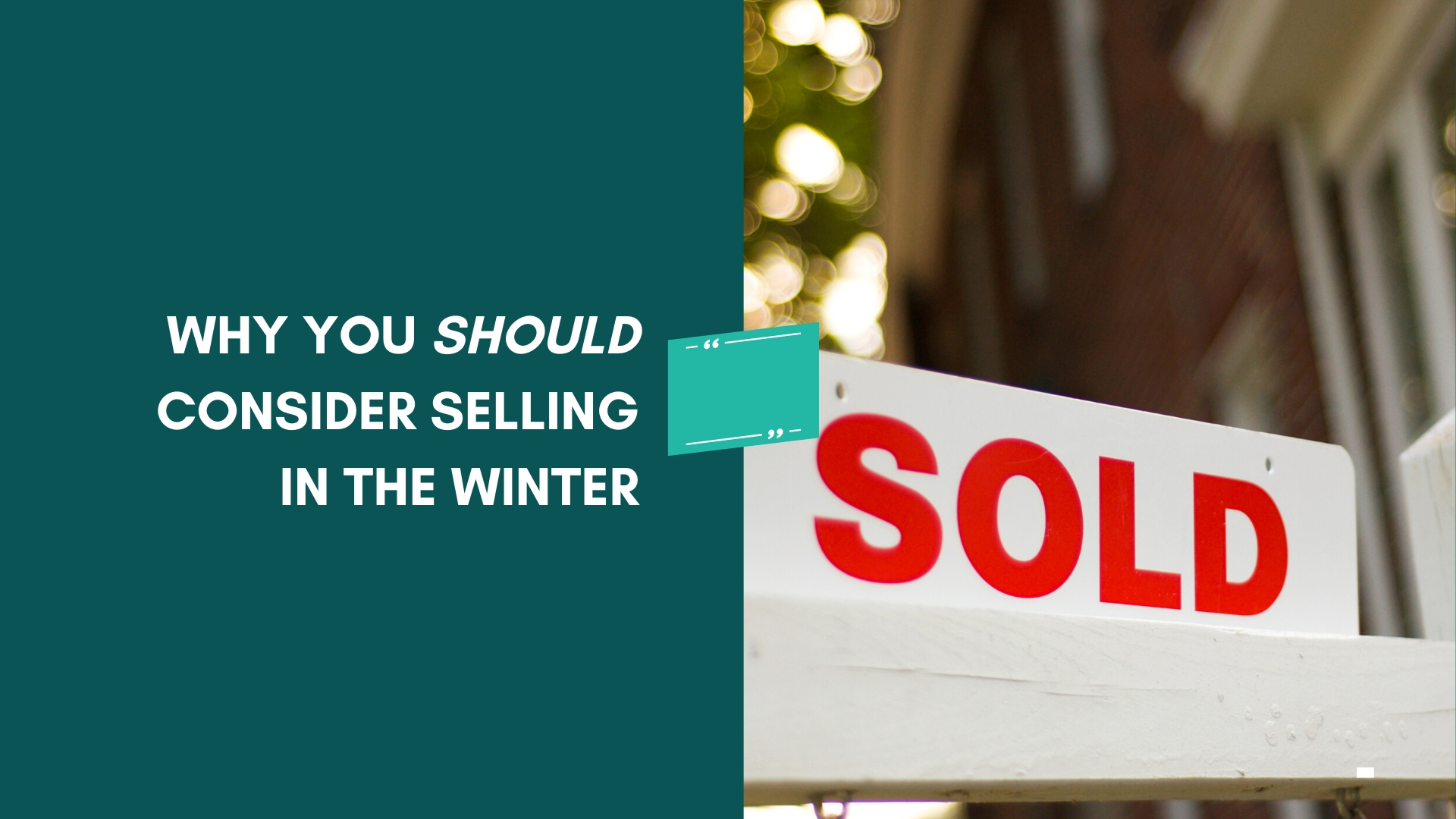 sell your home during winter time