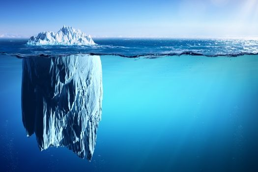 Iceberg representing hidden opportunites