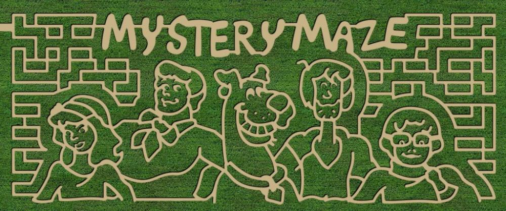 Scooby Doo Corn Maze at Fifers Orchards