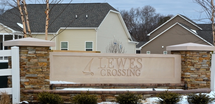 Lewes Crossing Sign