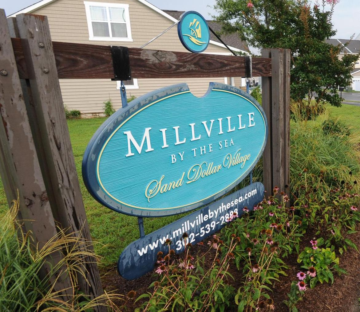 Millville by the Sea Entrance Sign