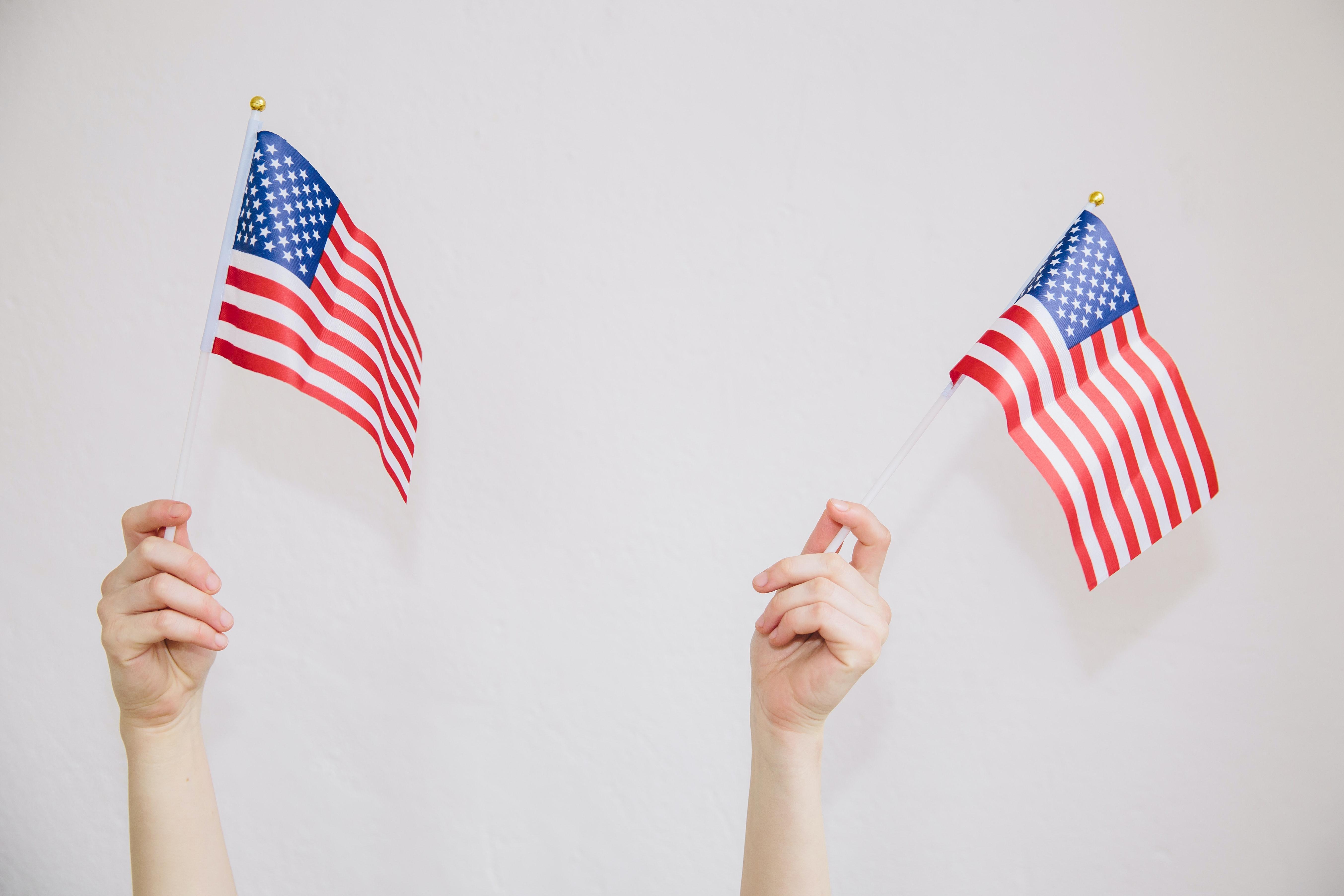 Waving American Flags