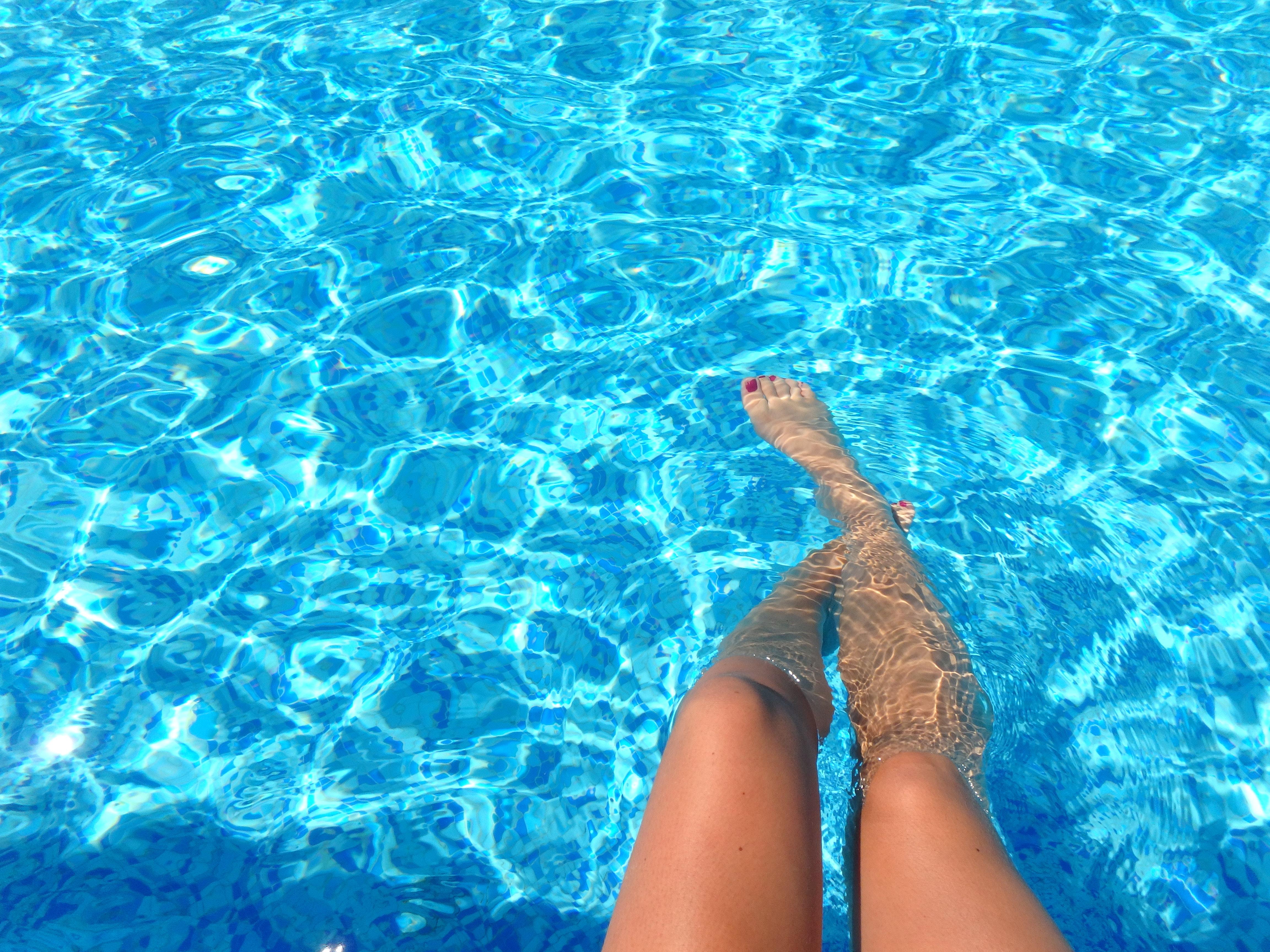 Feet in Swimming Pool