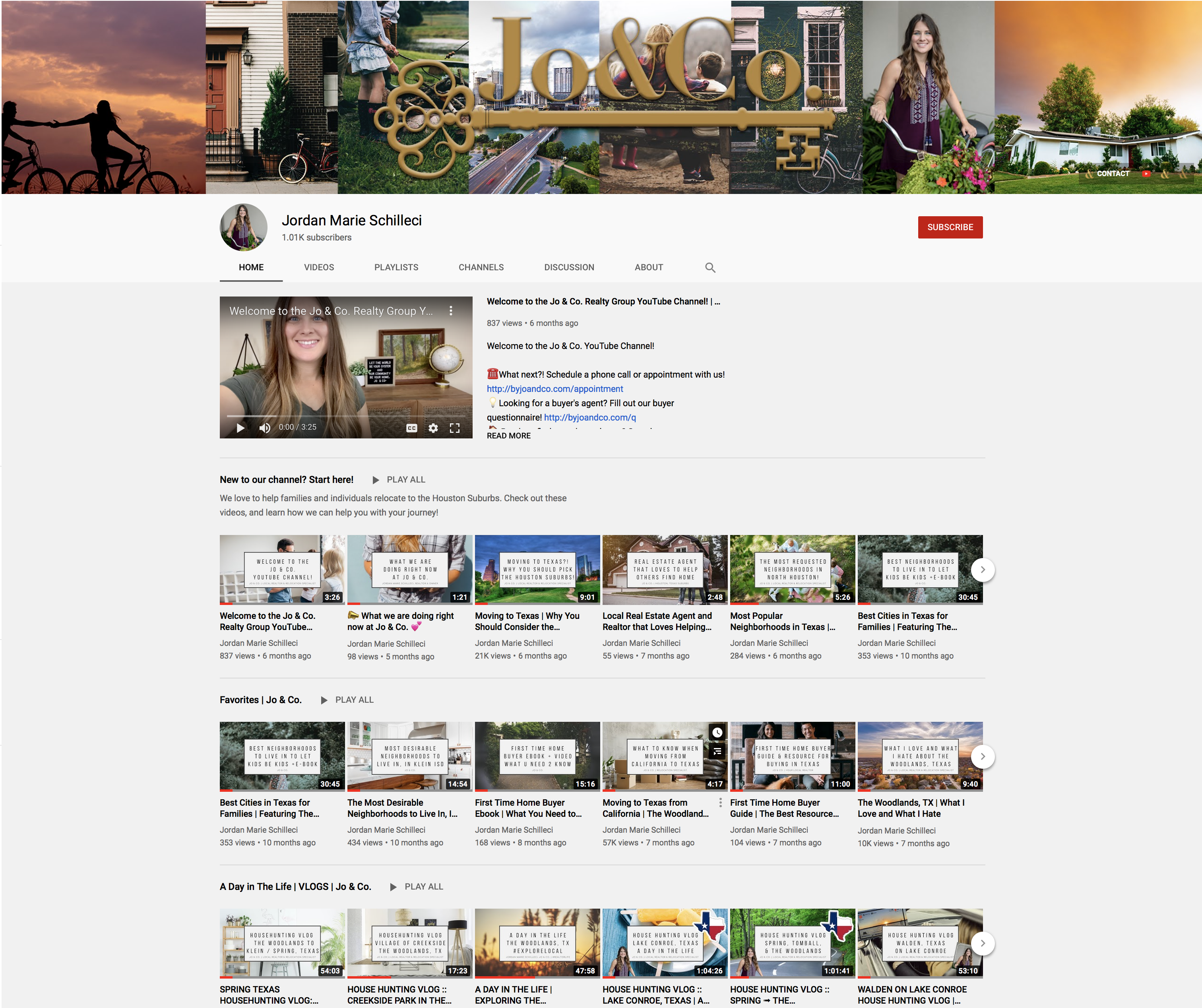 Jo and co realty group YouTube link
