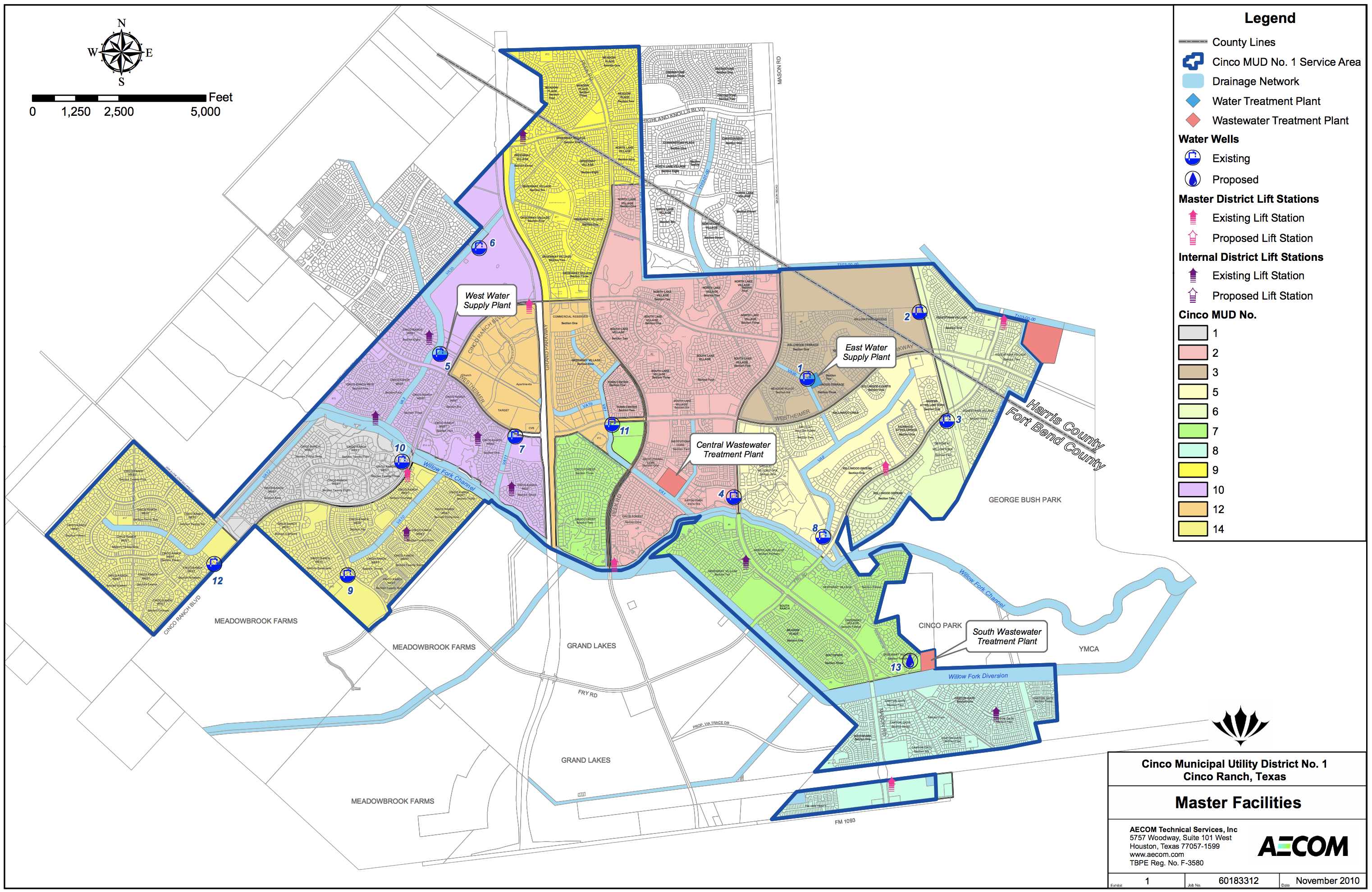 cinco ranch map