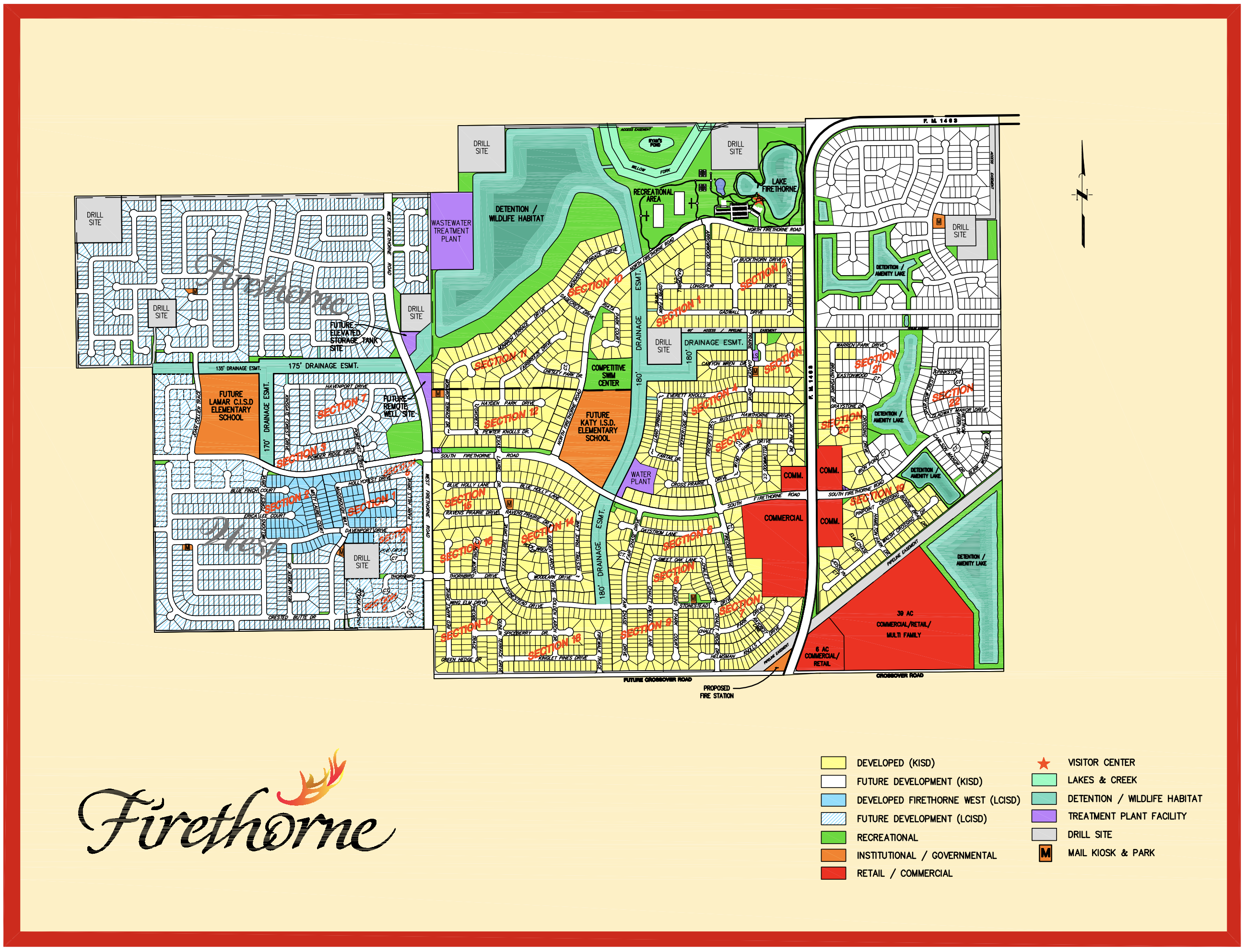 community map of firethorne