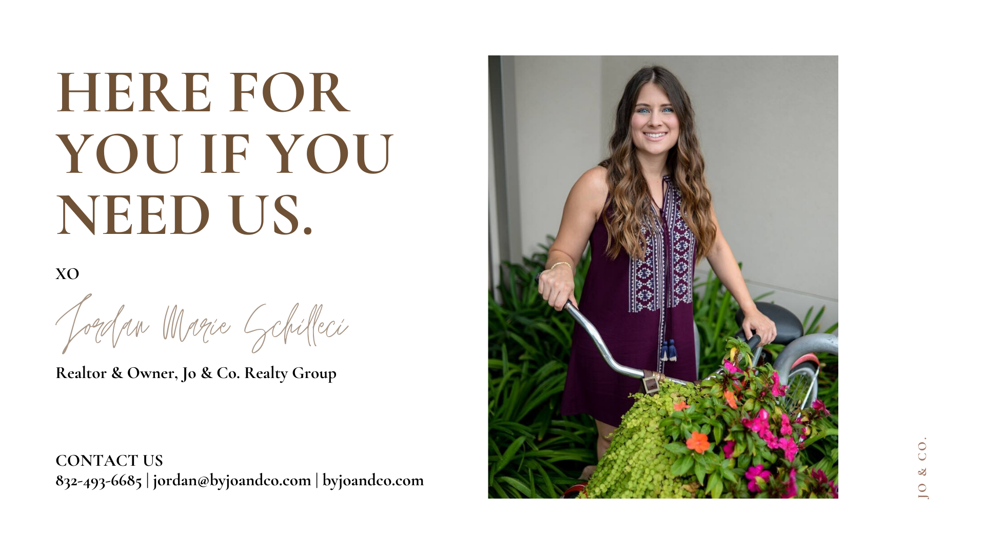 here for you at jo and co