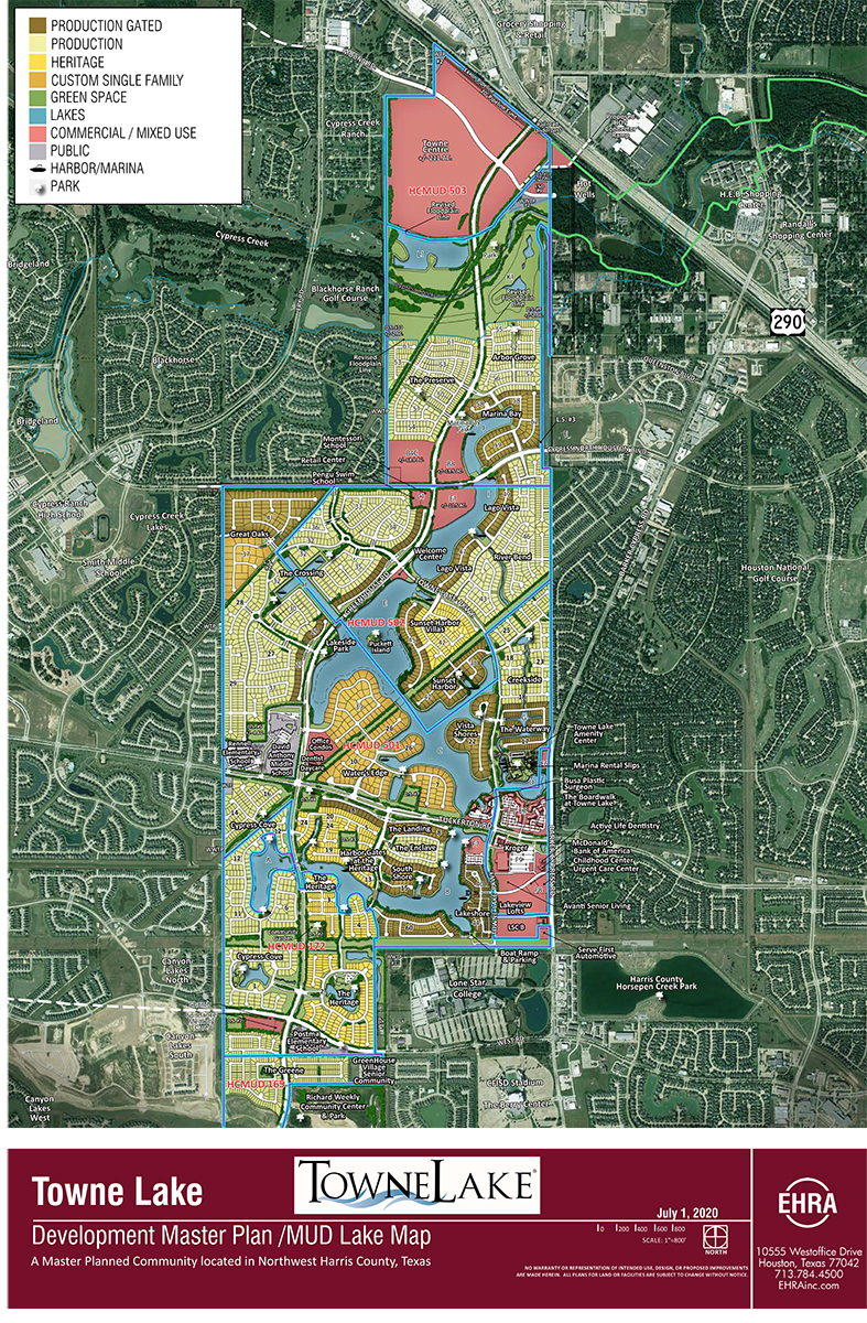 towne lake master planned community map