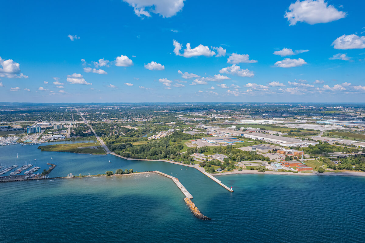 Town of Whitby in Ontario Canada