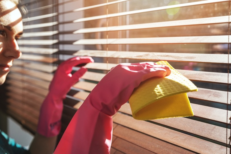 Regularly Cleaning Windows and Blinds