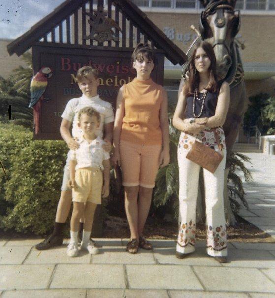 family at busch gardens in florida
