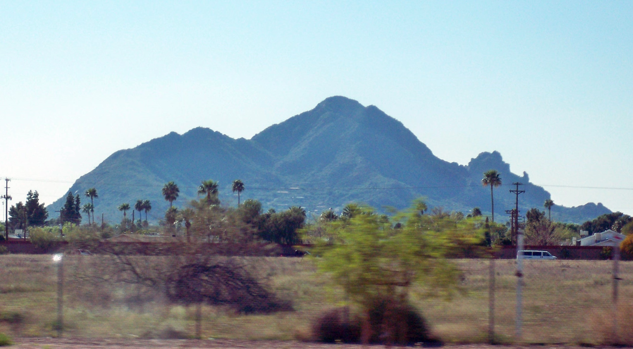 driving past camelback mountain in arizona