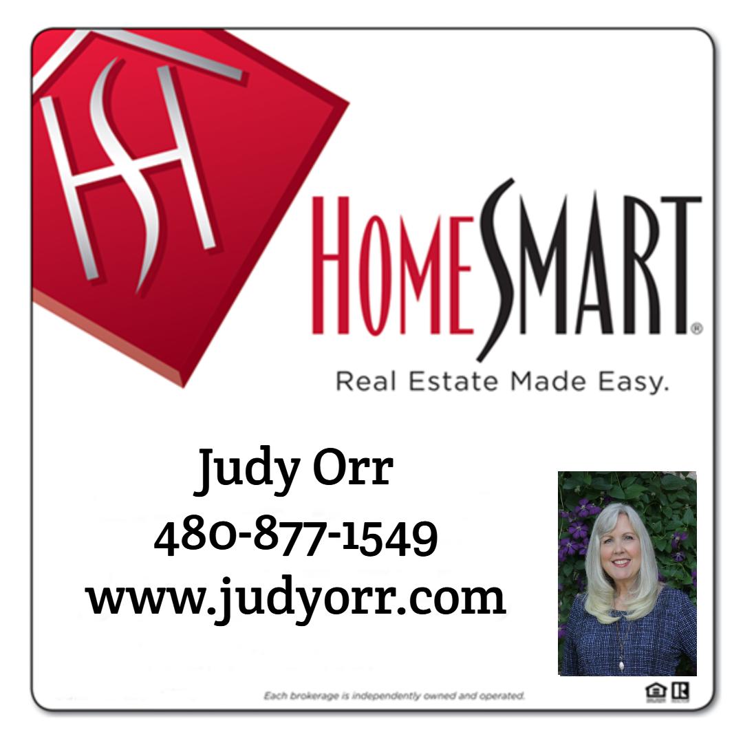 Judy Orr of HomeSmart sign