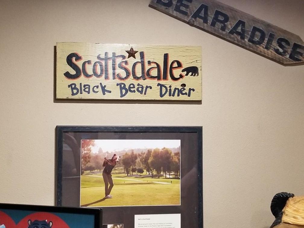 scottsdale black bear diner restaurant plaque