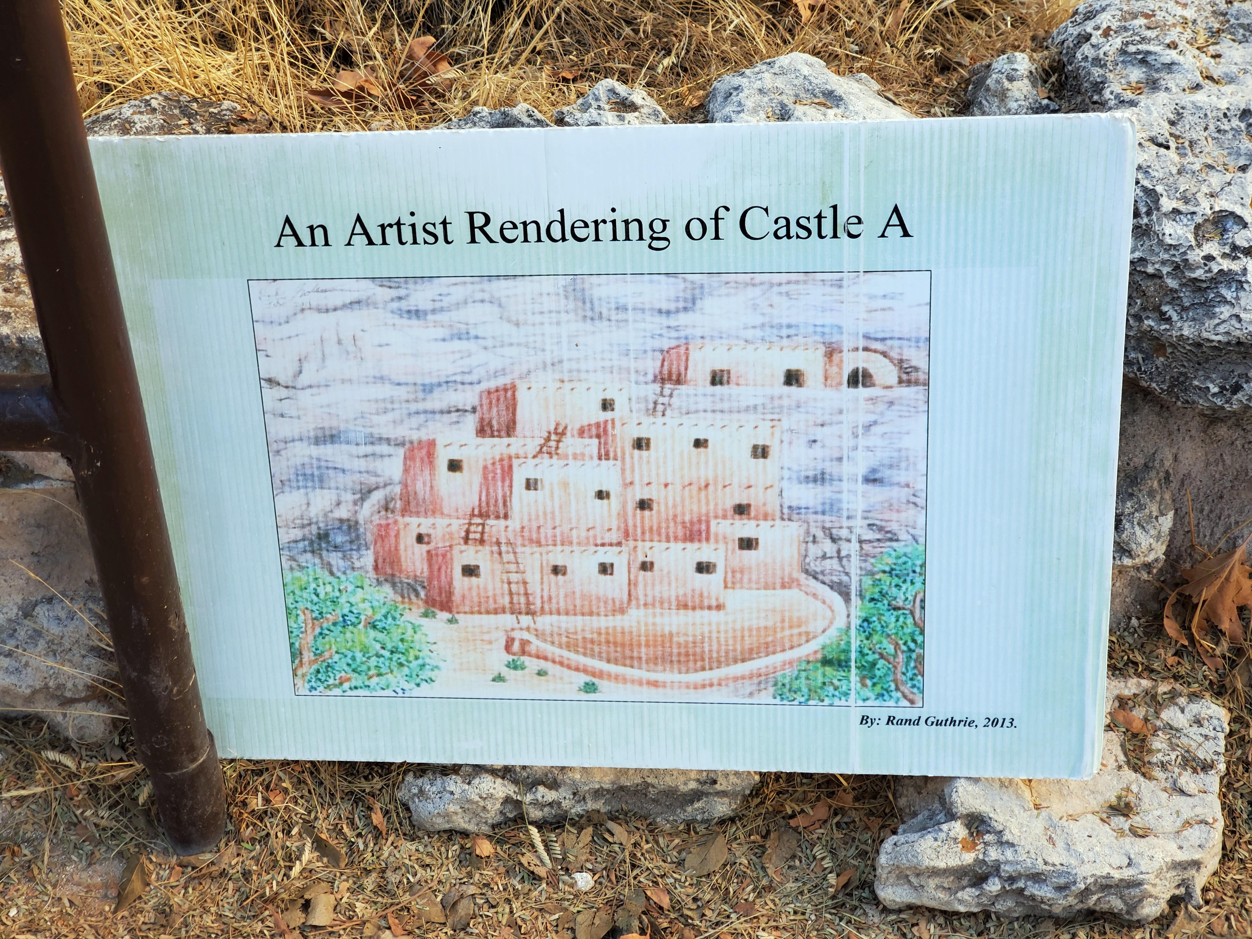 artist sign of montezuma castle in camp verde, az