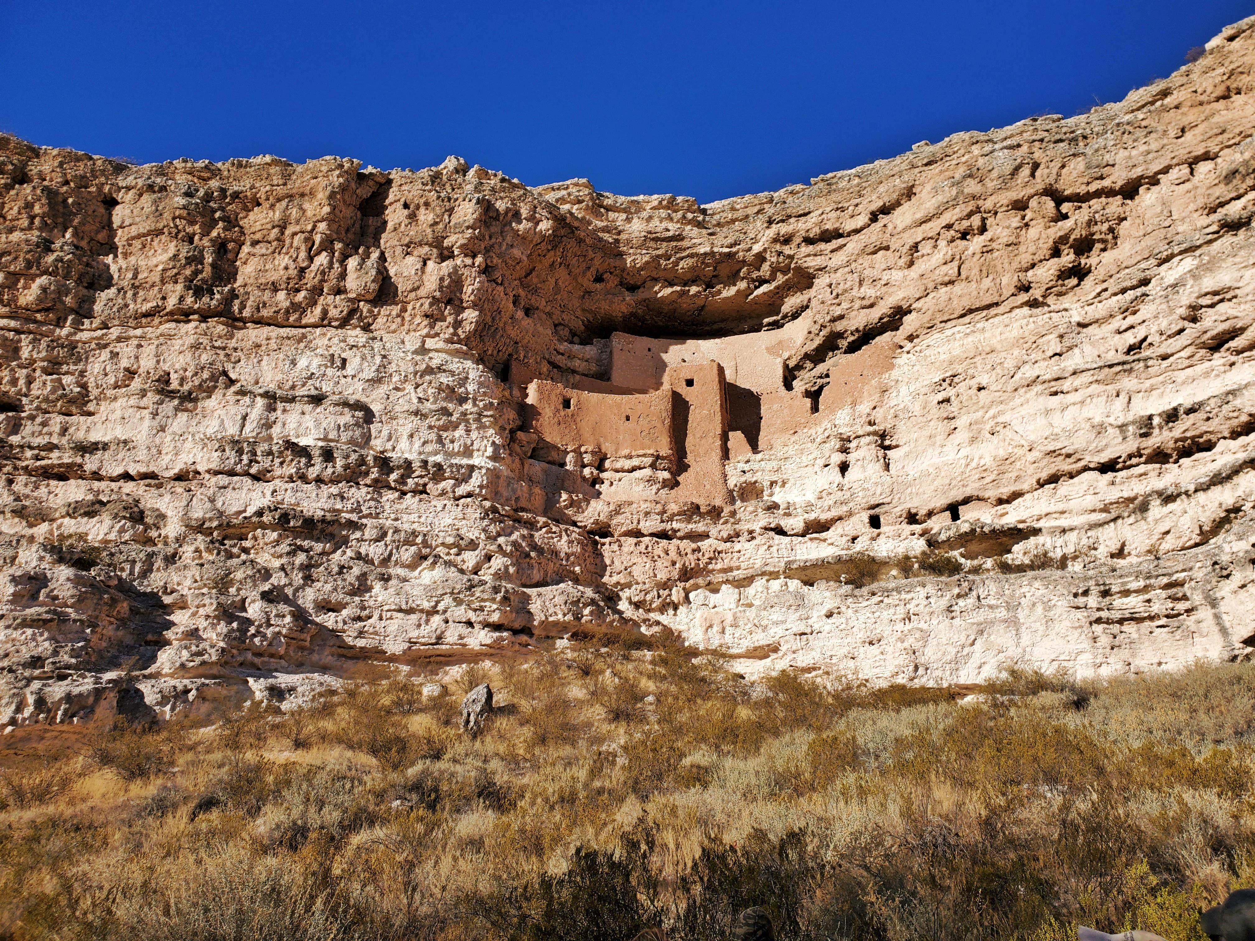 montezuma castle in limestone cliff