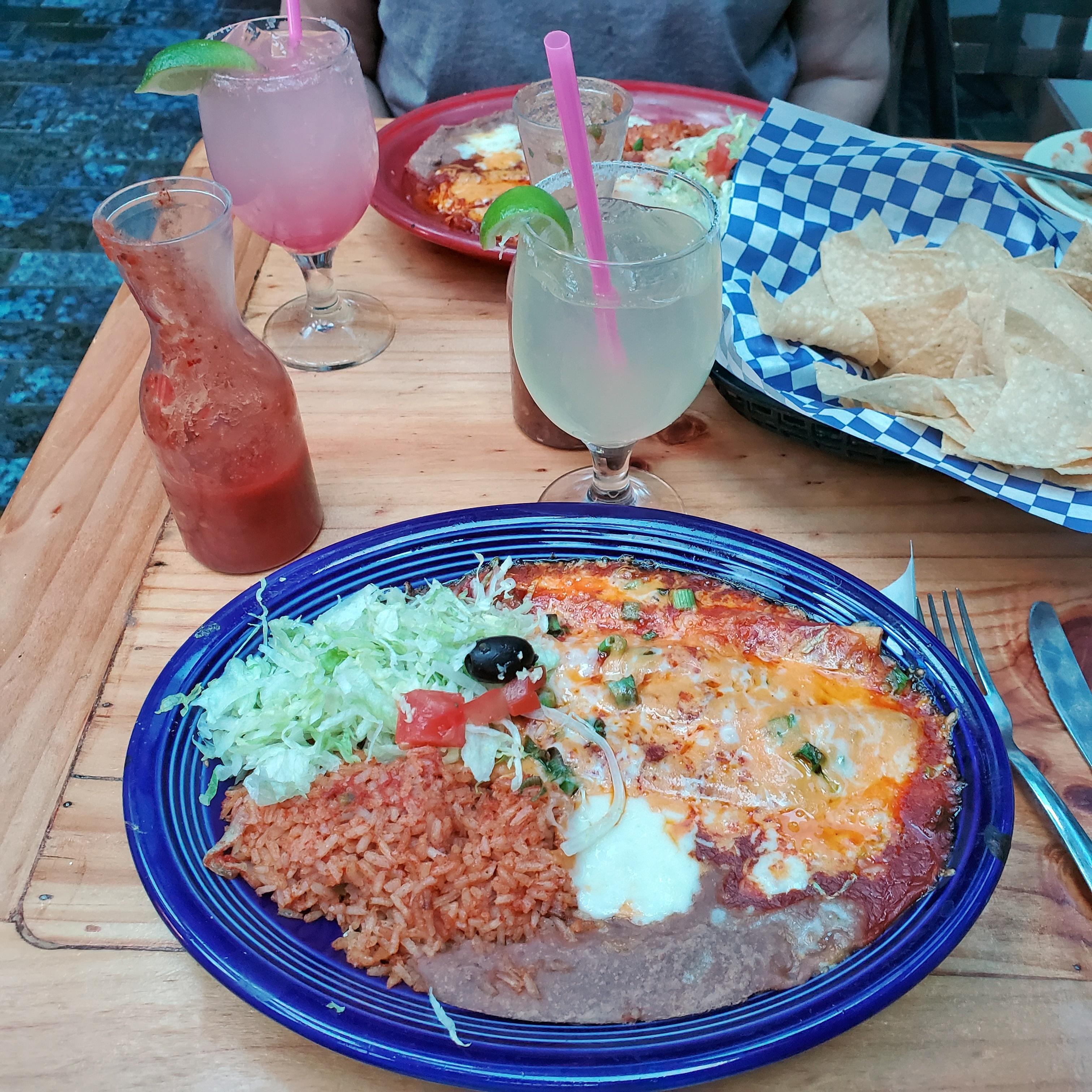 enchiladas at los olivos restaurant