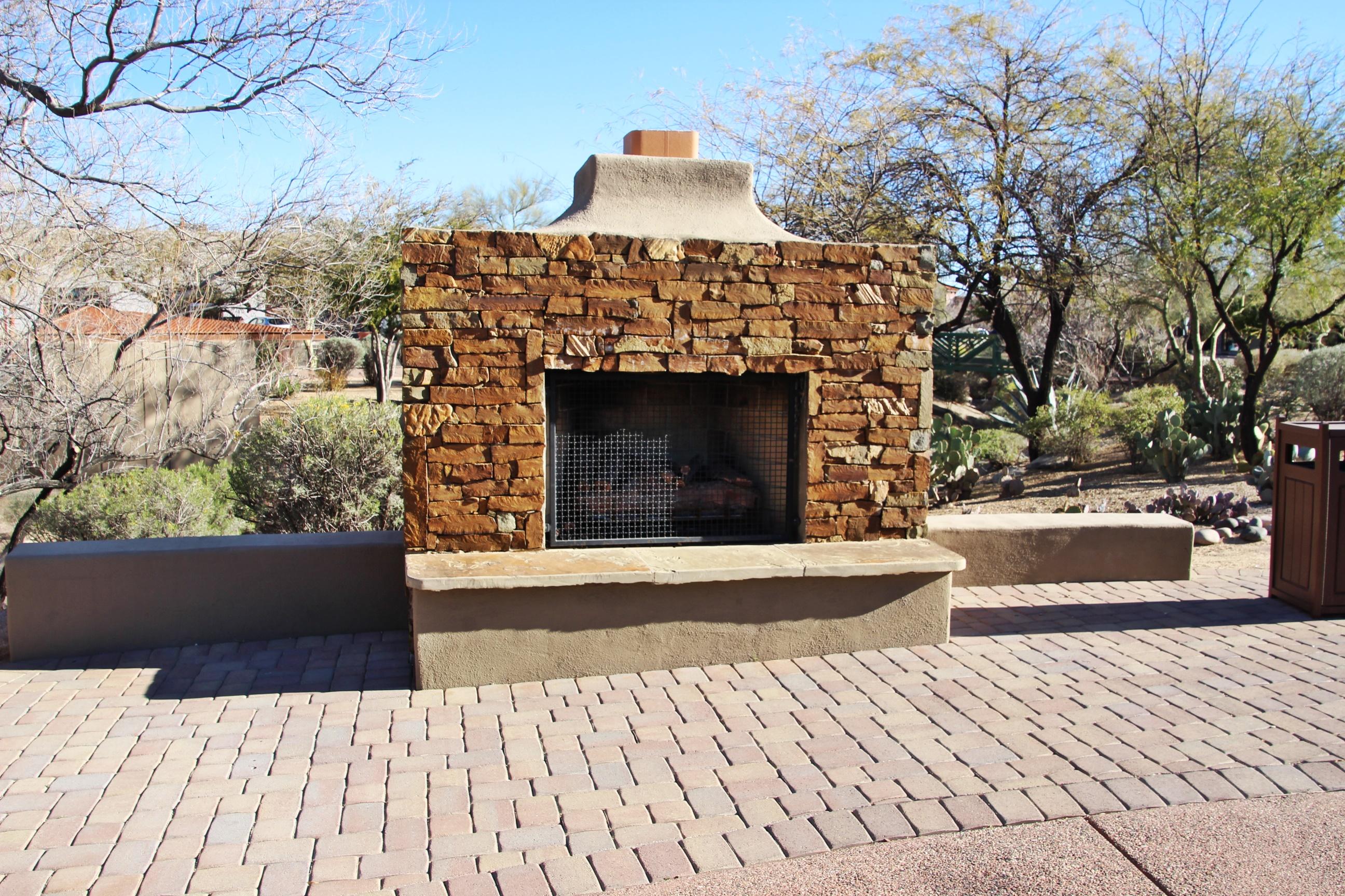fireplace at carefree desert gardens